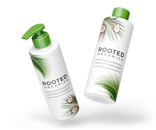 haircare shampoo bottle